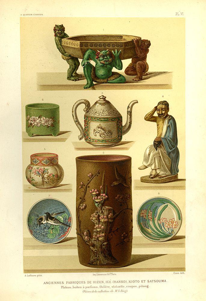 MICA Decker Library Gorgeous color plates from the 1883 edition of - mur porteur en brique