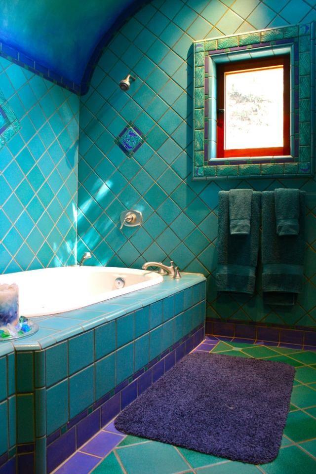 Bildergebnis für badezimmer türkis braun | Furniture ...