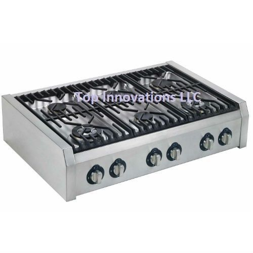 "36"" PRO STYLE OVEN STOVE COOK RANGE TOP 6 SEALED BURNER LP GAS STAINLESS STEEL #Hypotheory"