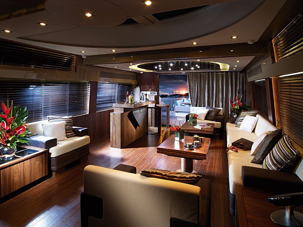 Predator 92 Yacht Interior Float On Luxuriously