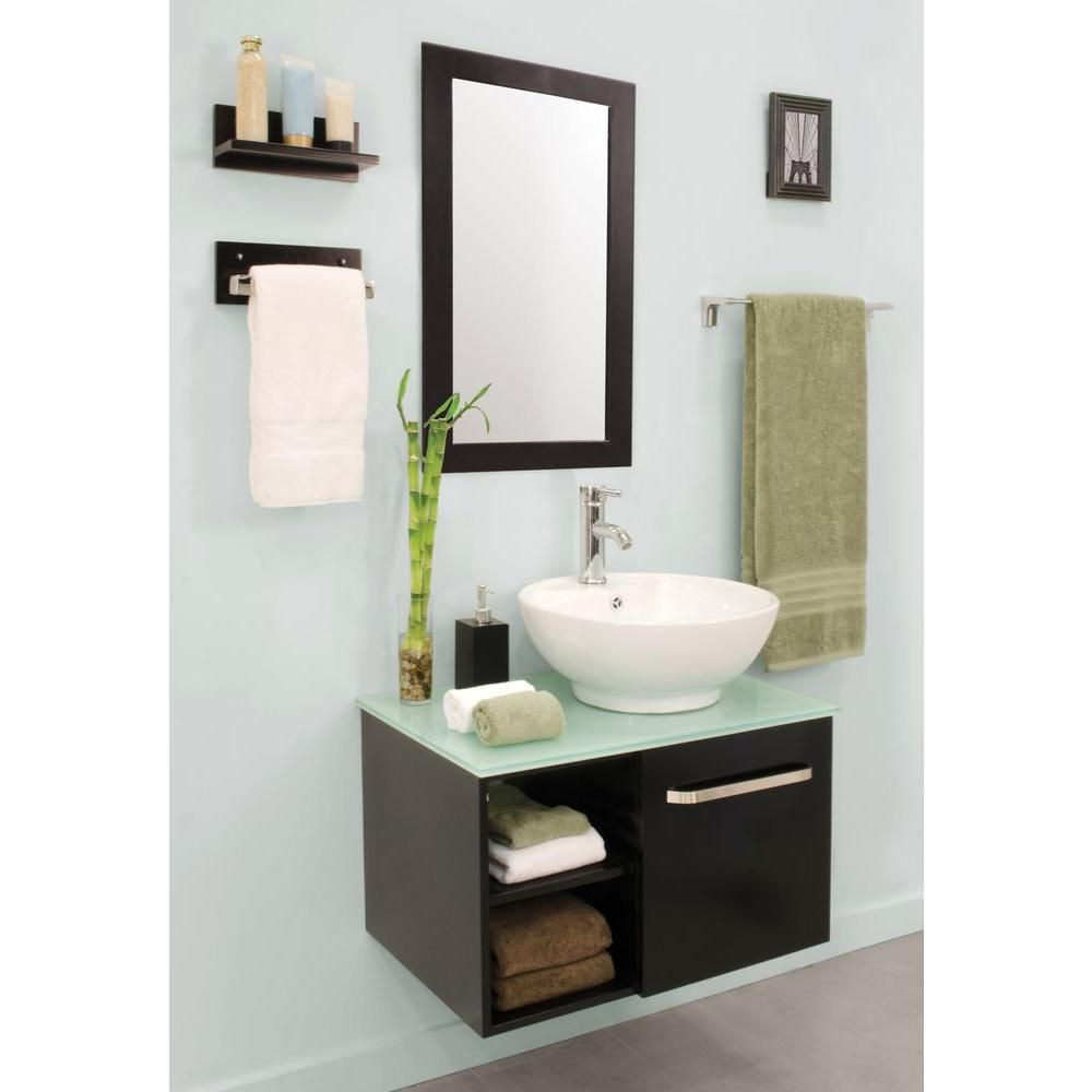 Sheffield Home Palma 27.5 in. W x 18.5 in. D Floating Vanity in ...