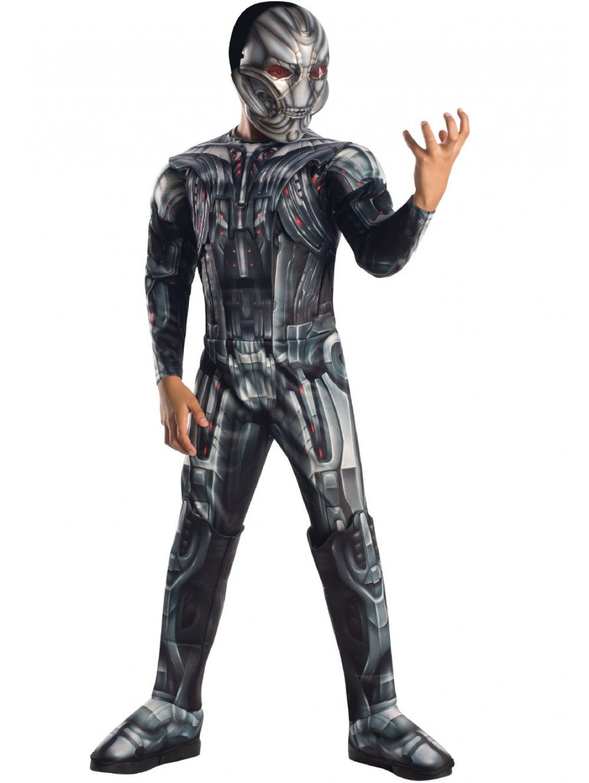 Ultron T-shirt Maschera da Uomo Costume Supereroe Avengers Costume Adulti Uomo malvagio