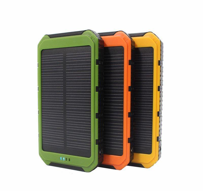 Doshin New Real 10000 Mah Portable Solar Charger Power Bank With 6 Led Panel Mobile Phone Power Charg Solar Charger Portable Solar Charger Solar Phone Chargers
