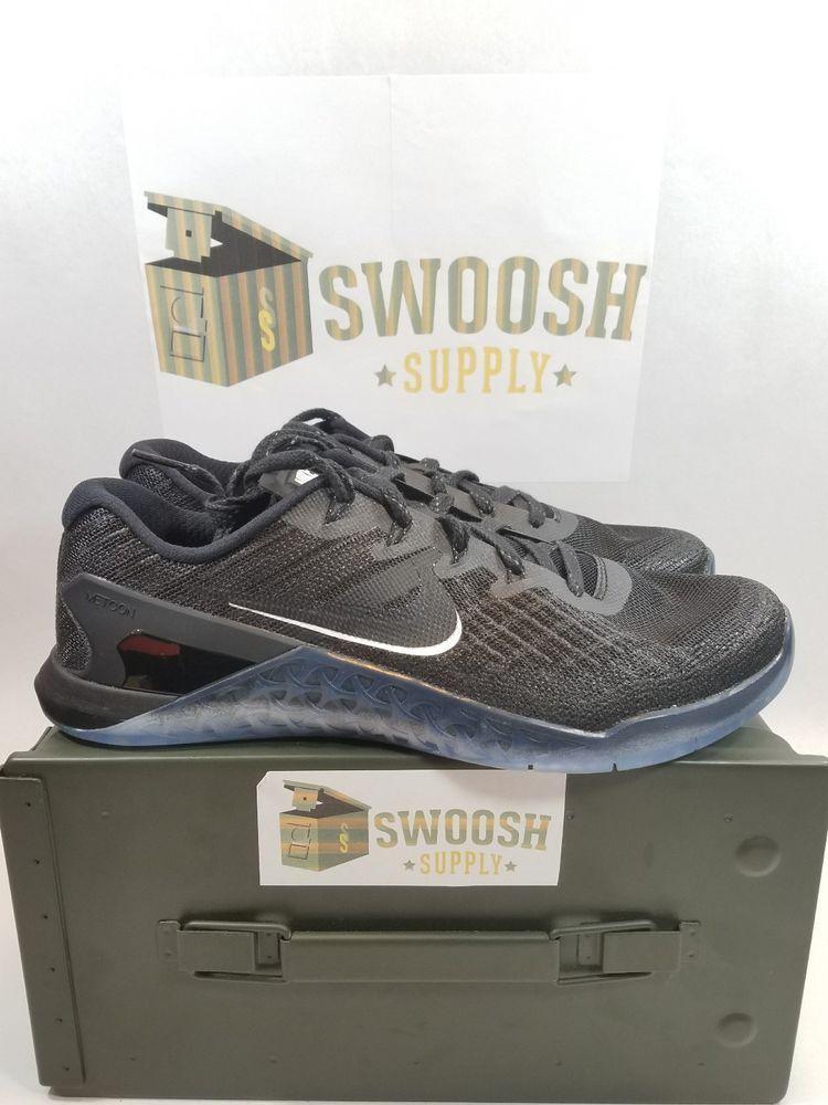 Nike Metcon 3 Black White New Mens Sneakers Size 9.5 852928-011  Nike   RunningCrossTraining 942181e9b