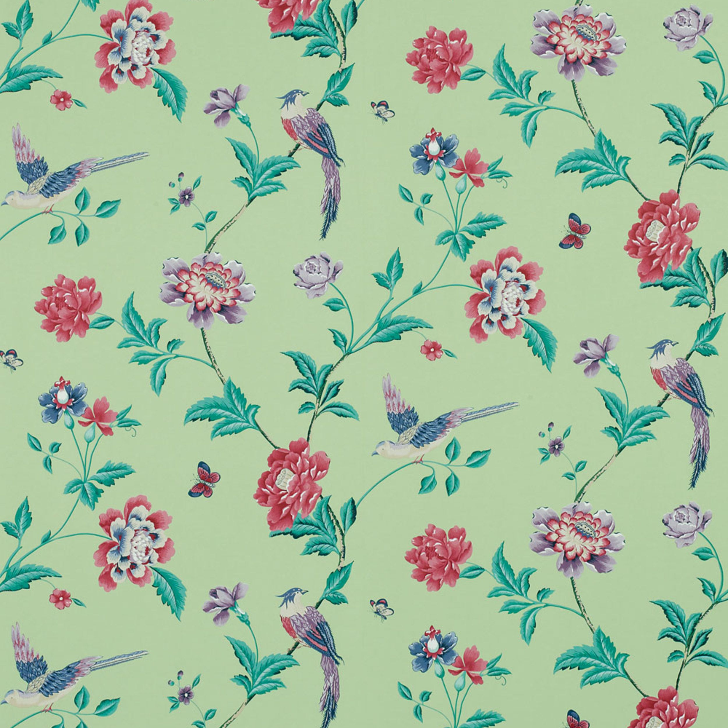 Elveden Celadon Wallpaper £24 Floral wallpaper, Feature