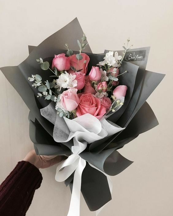 My Girlfriend How To Wrap Flowers Flower Gift Flowers Bouquet