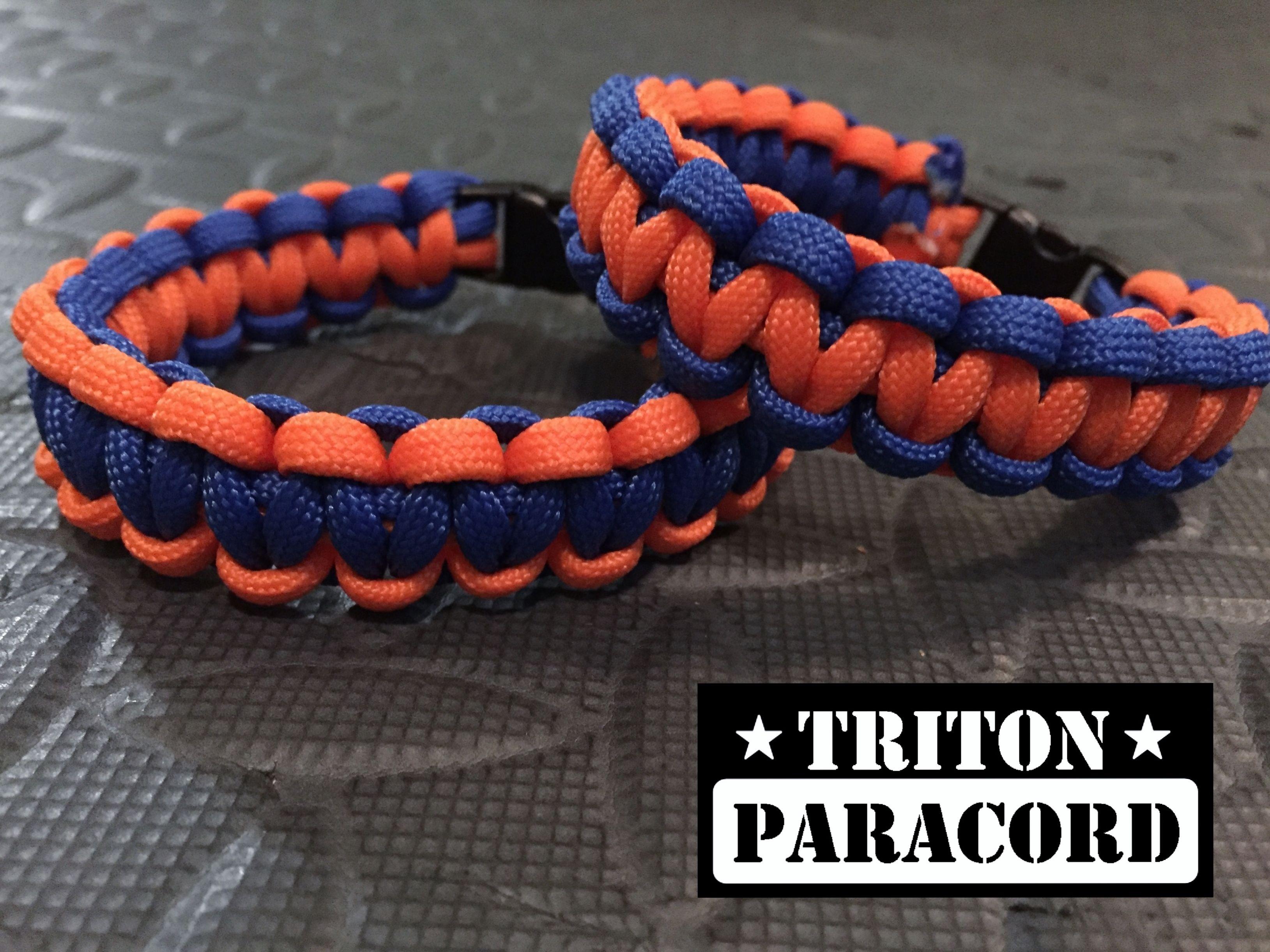 Orange Paracord Bracelet