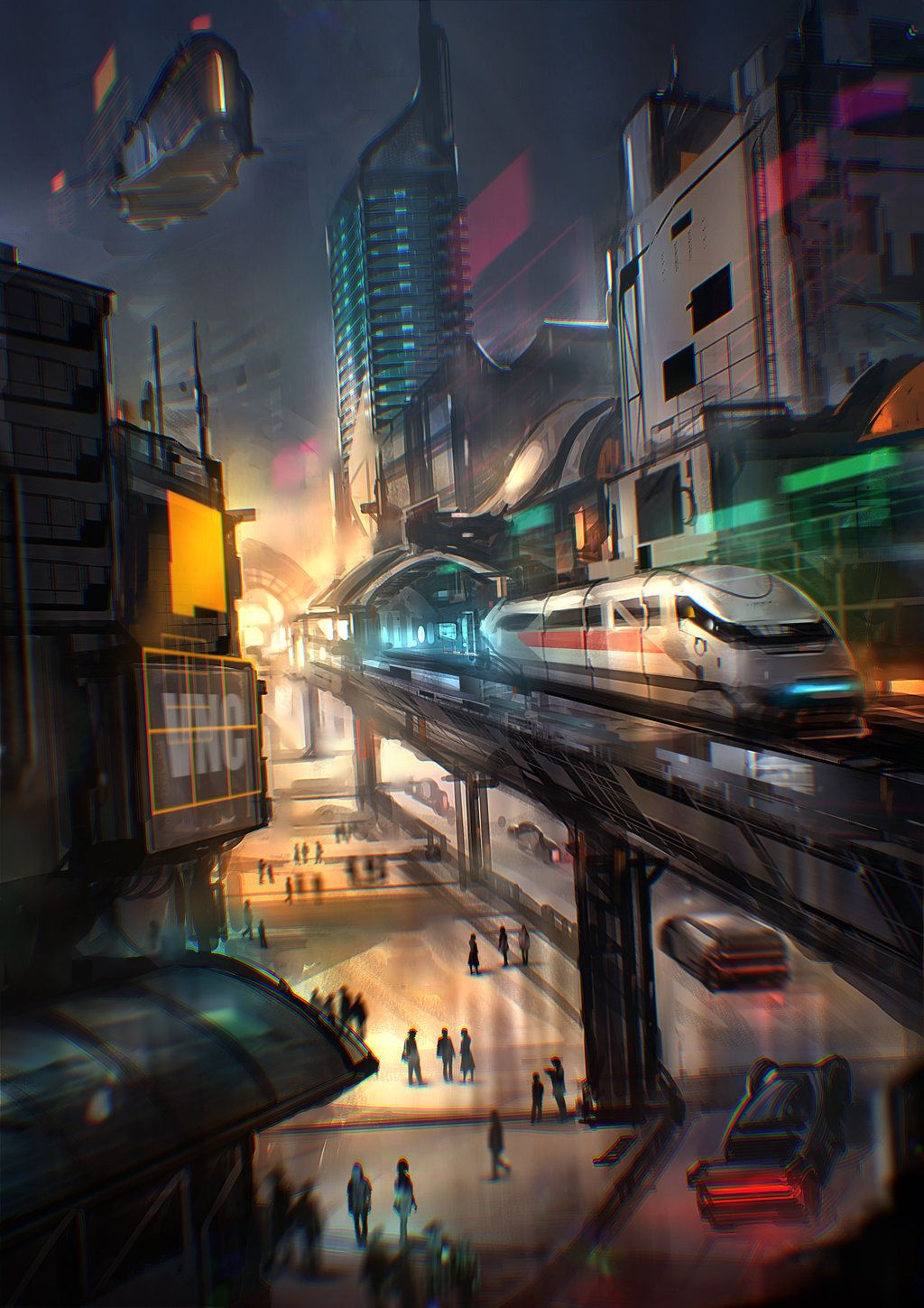 Metropolis of Tomorrow Cyberpunk city, Futuristic city