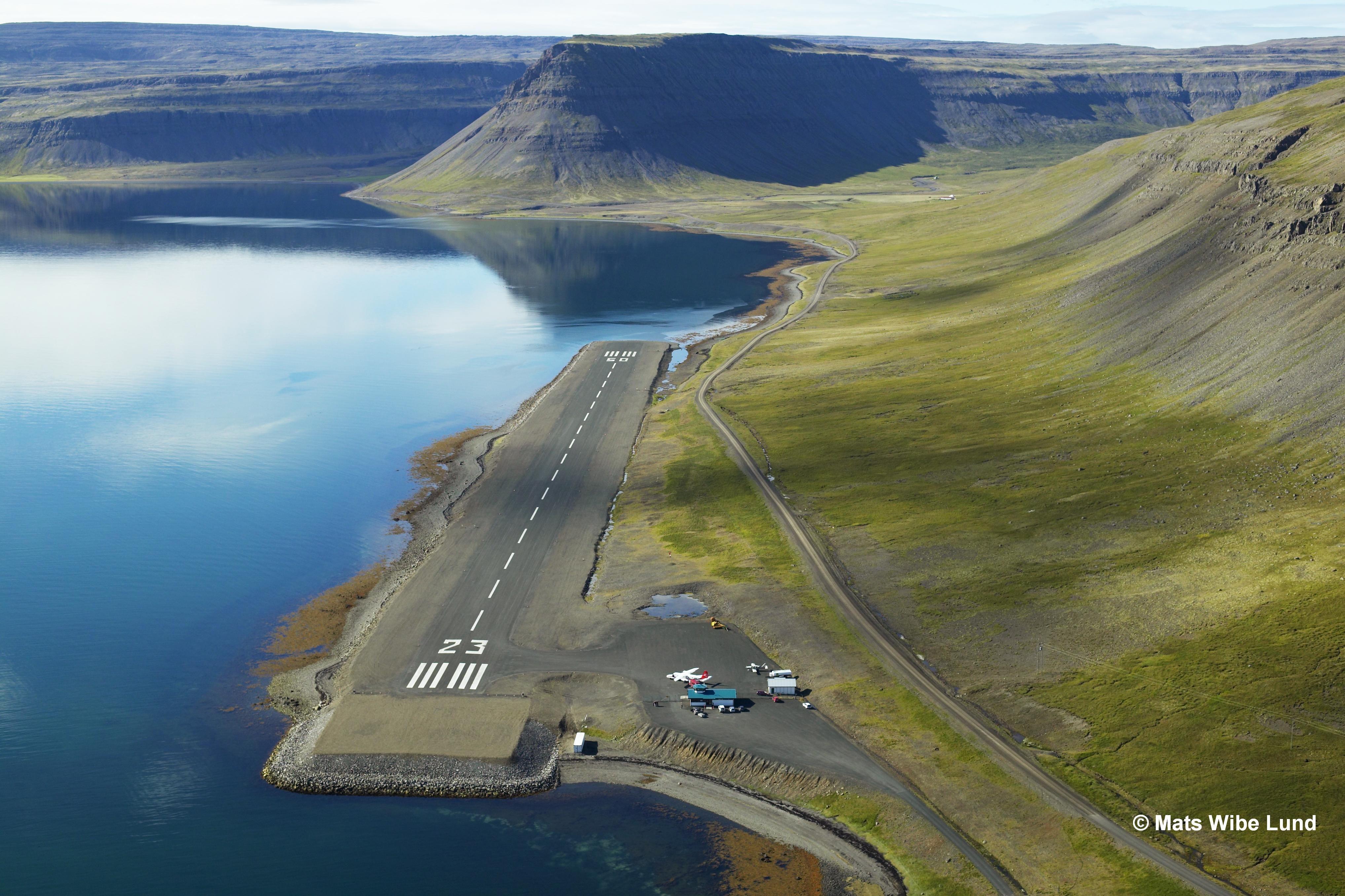 Aeroporto di Bíldudalur, Fiordi Occidentali di Islanda