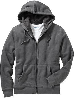0142206997 Men's Sherpa-Lined Zip-Front Hoodies | Old Navy size L I got one of ...