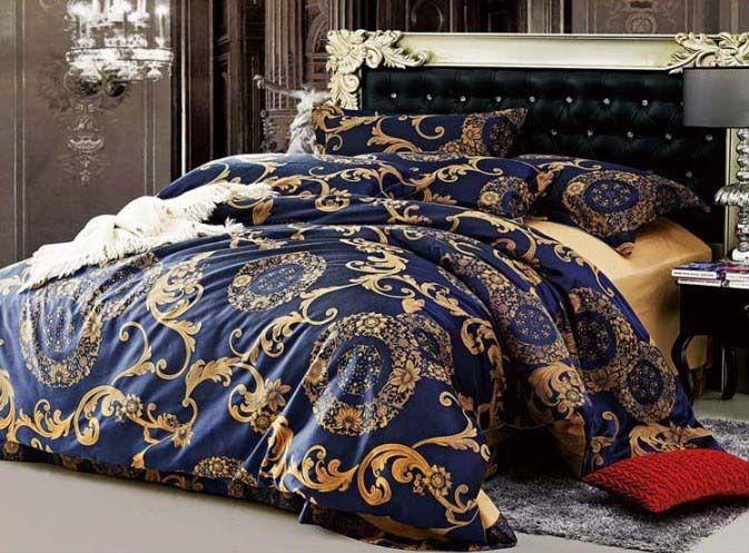Best Luxury Classic Blue 4Pcs Tencel Tribute Font B Silk B Font 640 x 480