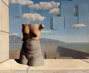 René Magritte * Les marchés de l'été * Songe... Comme une tête dans les nuages Et des nuages au dessus de la tête