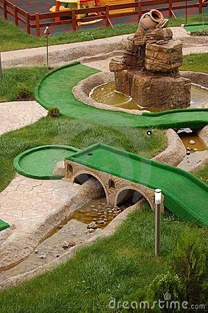 Mini Golf Field Miniature Golf Course Backyard Putting Green Golf Courses