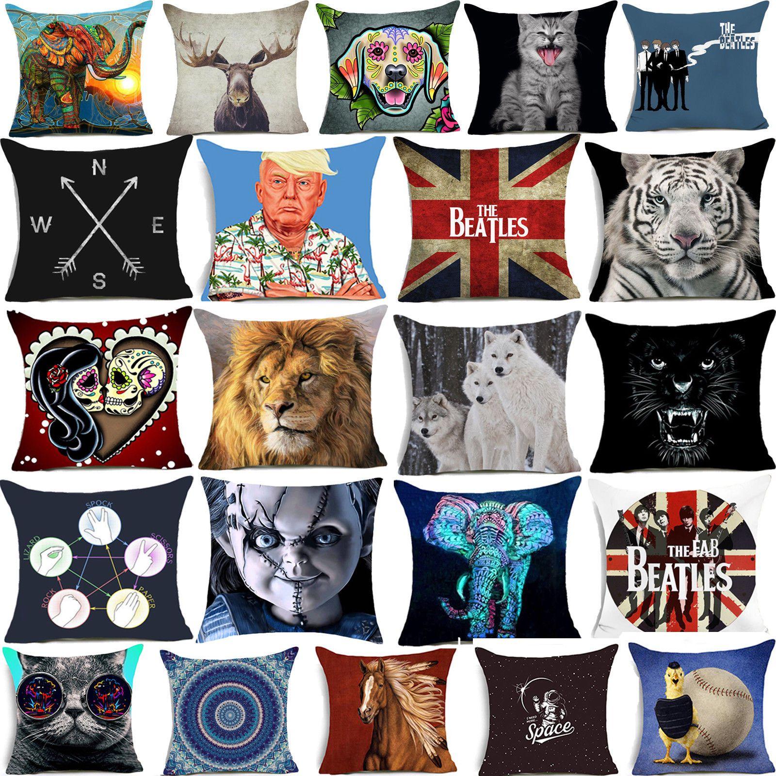 16 Cartoon Cushion Cover Floral Animal Waist
