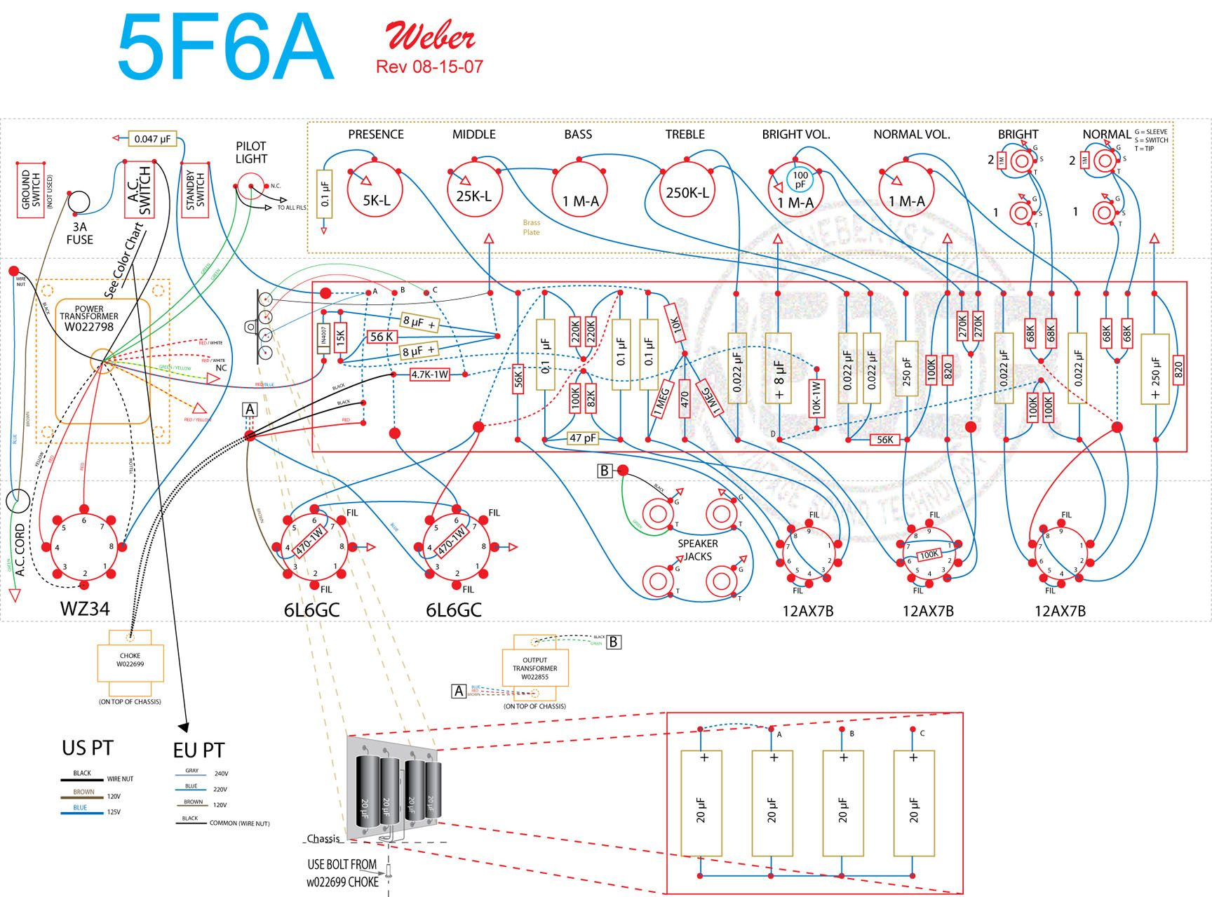 The God Father Of All Tube Amps Fender Bassman Time Favorite Seymour Duncan P Rail Wiring Diagrams