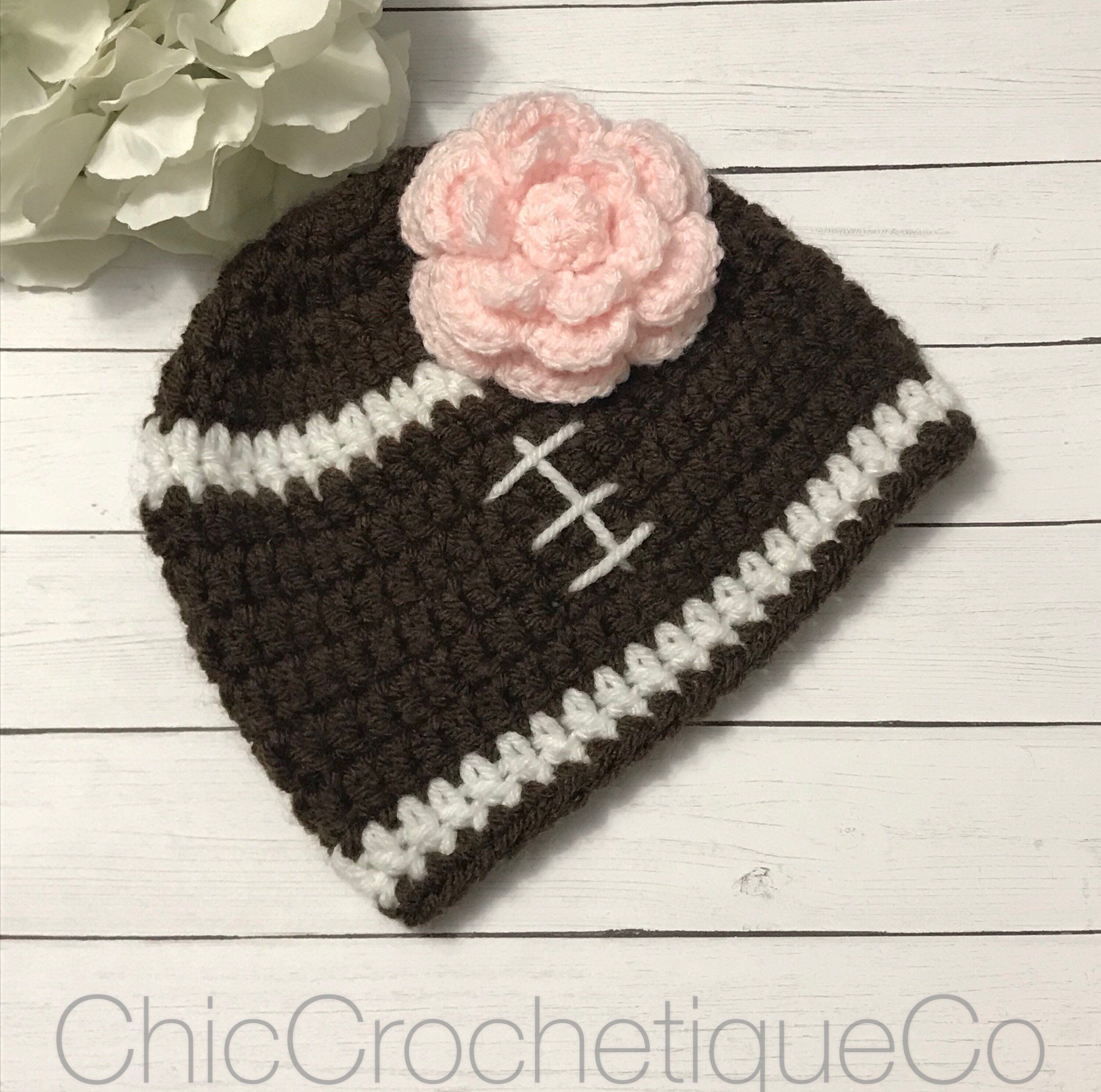 Football Hat With Flower Baby Girl 428726eb9