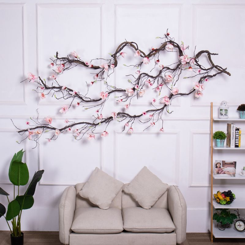 Artificial Tree Fake Tree Real Touch Branch Decoration Hanging Rattan Artificial Flexible Flower Vine Decor Vine Decoration Tree Branch Wall Decor Branch Decor