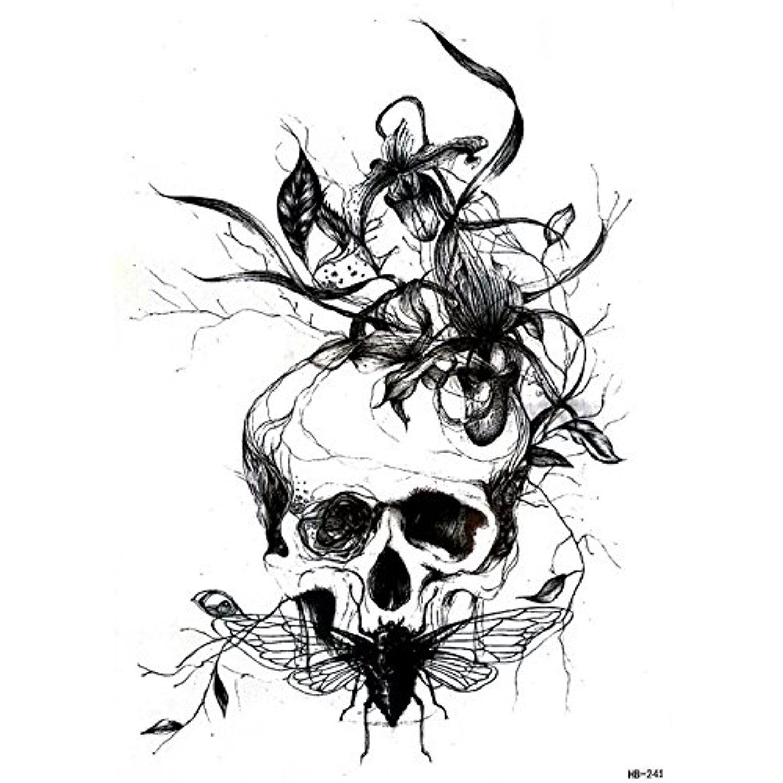 1 Large Skull Fake Tattoo Sleeve Unitemporary Tattoos