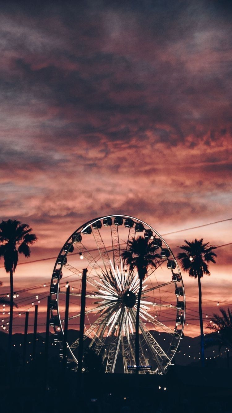 Pin By Ricardo Caceres On World Tumblr Backgrounds Aesthetic Wallpapers Aesthetic Iphone Wallpaper Hd wallpaper autumn ferris wheel park