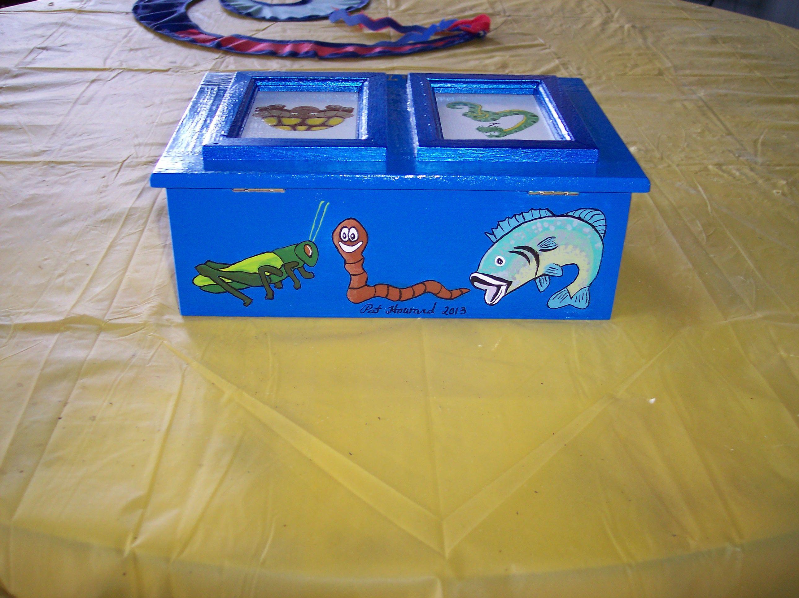 Back panel of treasure box