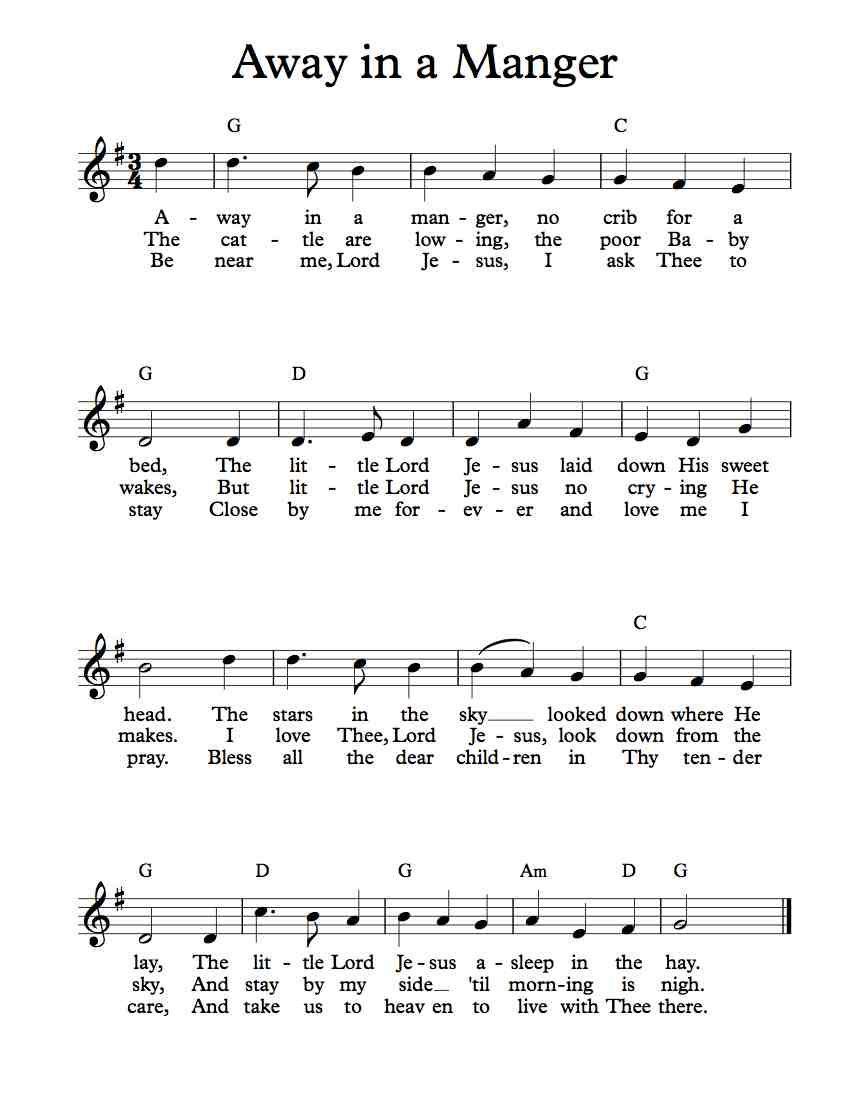 Free Lead Sheet Away In A Manger Mueller Saxophone Sheet Music Sheet Music Free Sheet Music