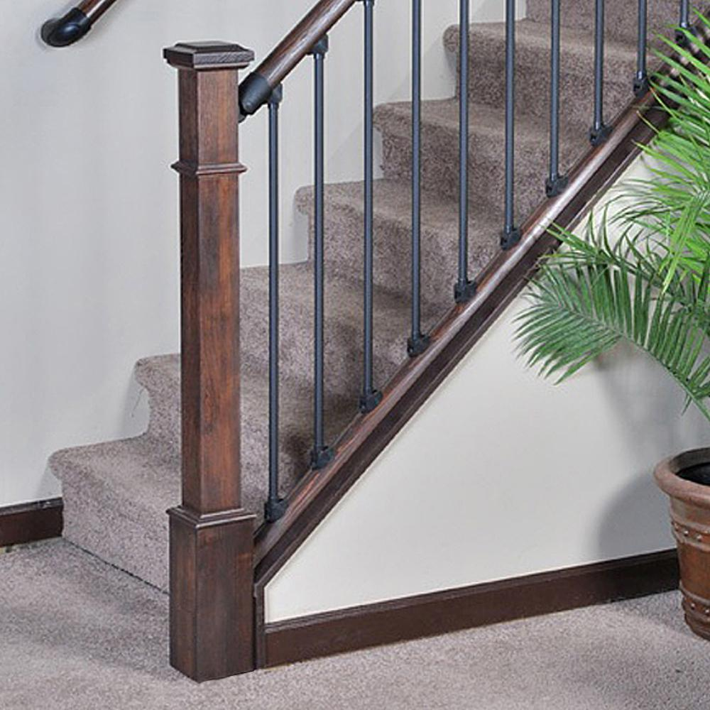 Stair Parts 4 5 8 In X 55 In Unfinished Hemlock Wood Craftsman | Iron Spindles Home Depot | Ole Iron Slides | Wm Coffman | Stair Parts | Oil Rubbed | Deck