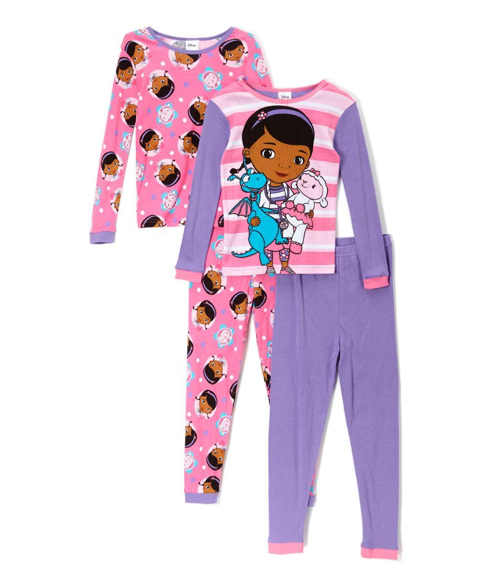 4670c0f61b Pink   Purple Doc McStuffins Four-Piece Pajama Set - Girls