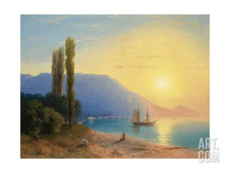 Art.fr - reproduction procédé giclée 'Sunset over Yalta' par Ivan Konstantinovich Aivazovsky