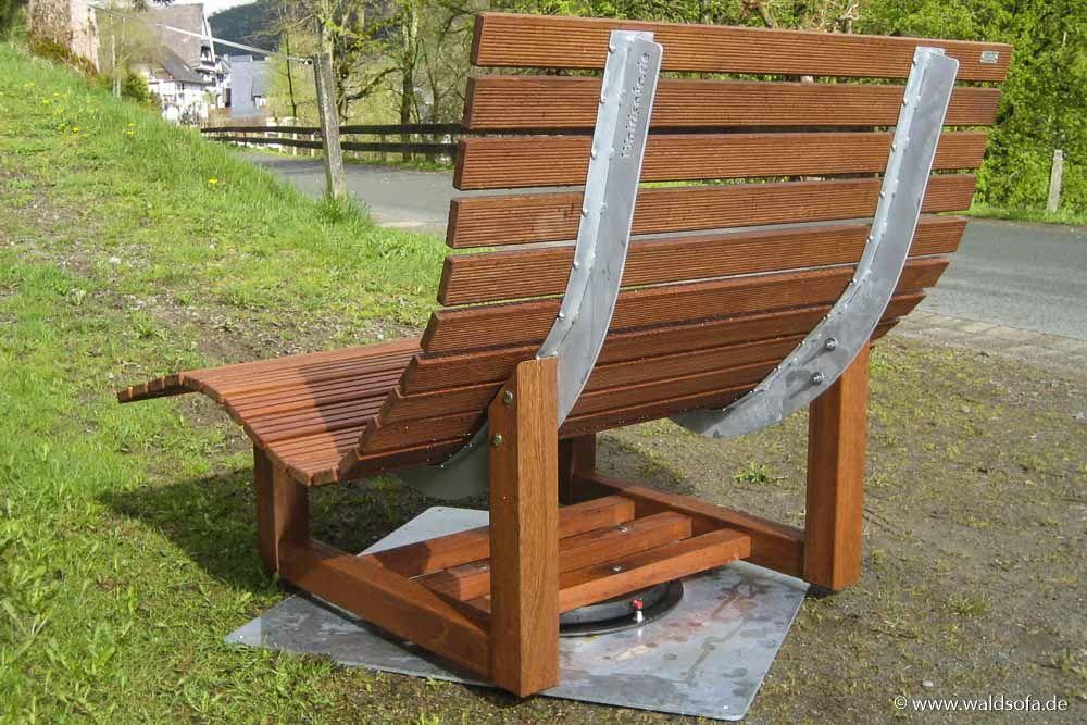 Tischlerei Belke Doppelliege Drehbar Holzliege Relaxliege Garten Doppelliege