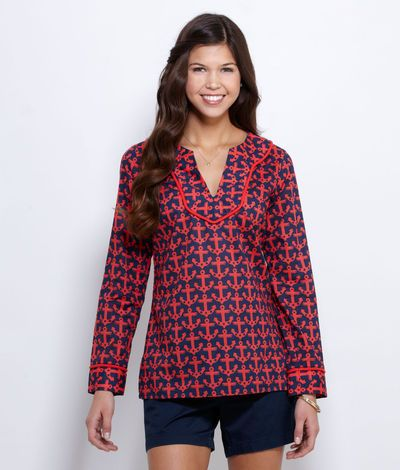 Womens Tops: Anchor Tunic Top for Women – Vineyard Vines