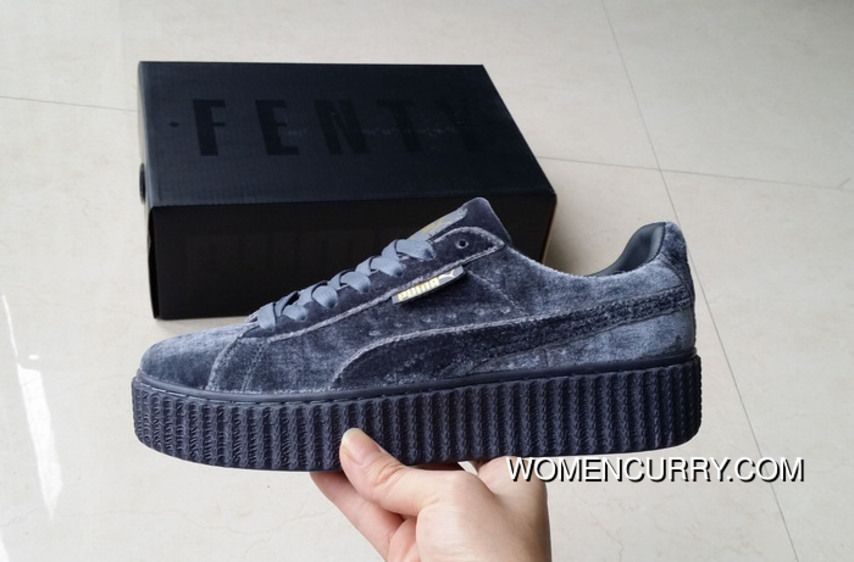 new styles 67d51 9ffdb Puma By Rihanna Suede Creepers Blue Velvet Liu Wen New Style, Price   84.00  - Women Stephen Curry Shoes Online