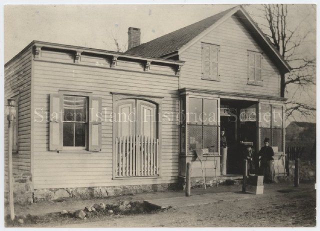 Image of 51.007.0003, Print, Photographic: Edmund N. Crocheron's Store, ca. 1880s-1890s