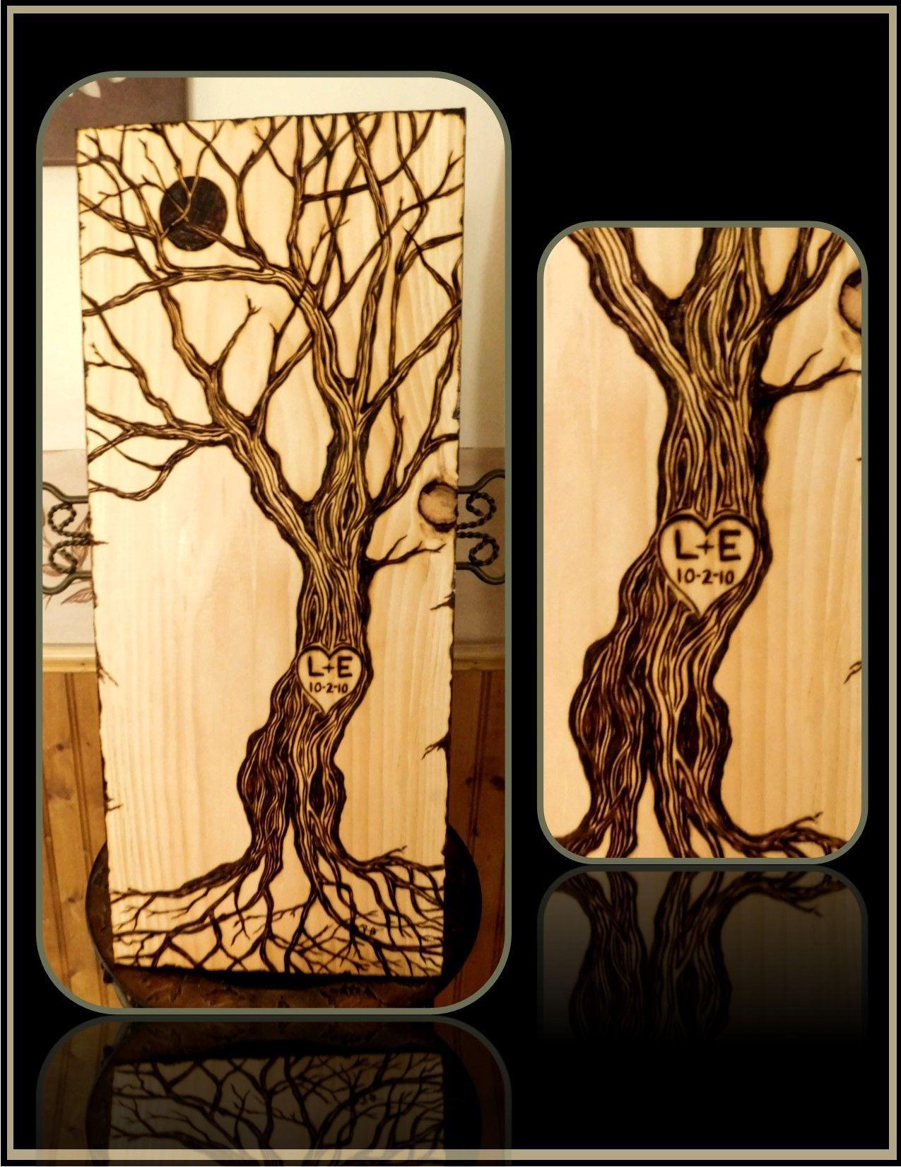 Custom Made Couples Gift,Wood Anniversary Gift,Couples Art