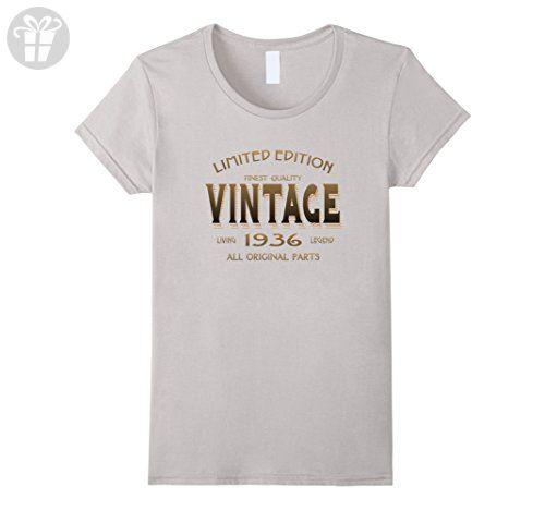Womens Vintage 1936 T Shirt 81st Birthday Gift 81 Year Old B Day Yr