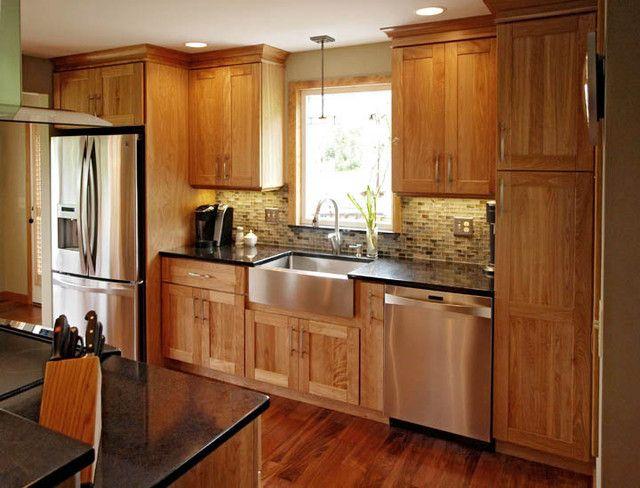 contemporary birch cabinet kitchen design ideas pictures remodel and decor - Birch Kitchen Design