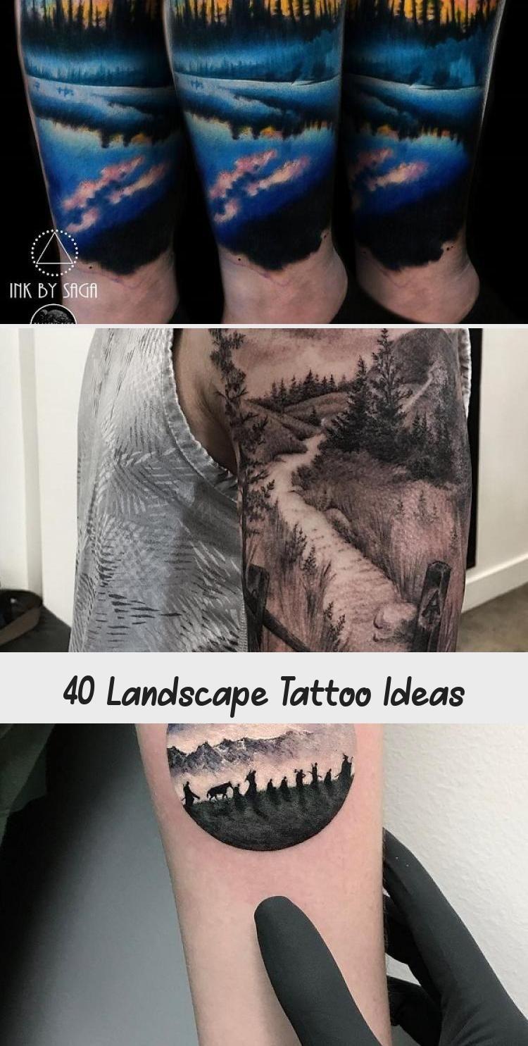 Photo of Idées de tatouage de paysage #ArtTatouageIllustration #AncientArtTattoo #ArtTattooAnimal …