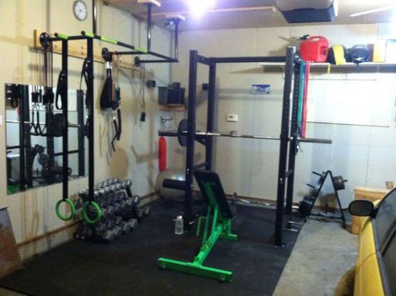 Green gym lots of good gear great garage