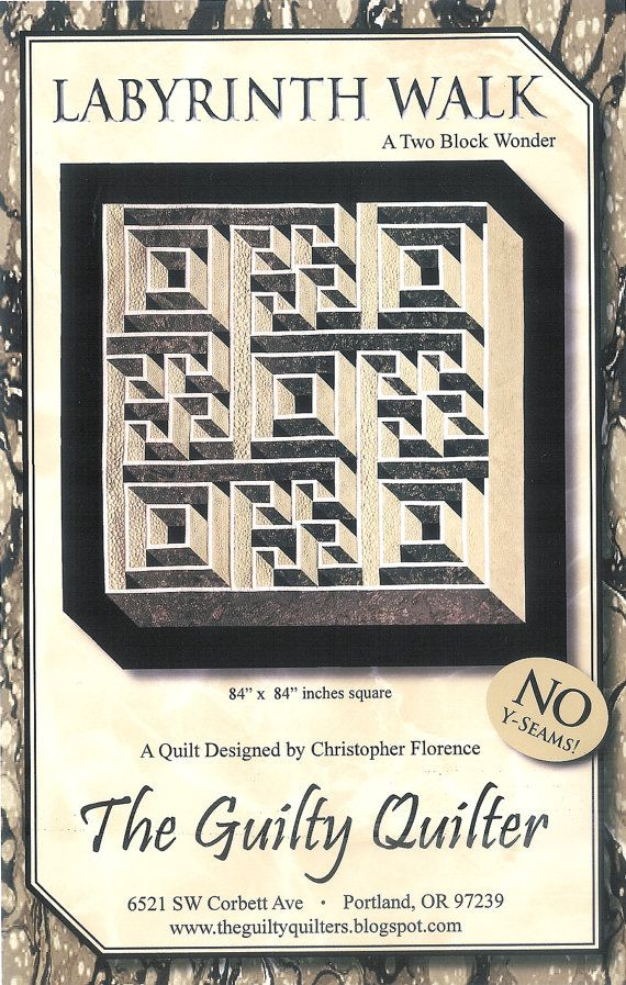 Quilt Pattern - Labyrinth Walk - Instruction Guide, Pattern by The Guilty Quilter