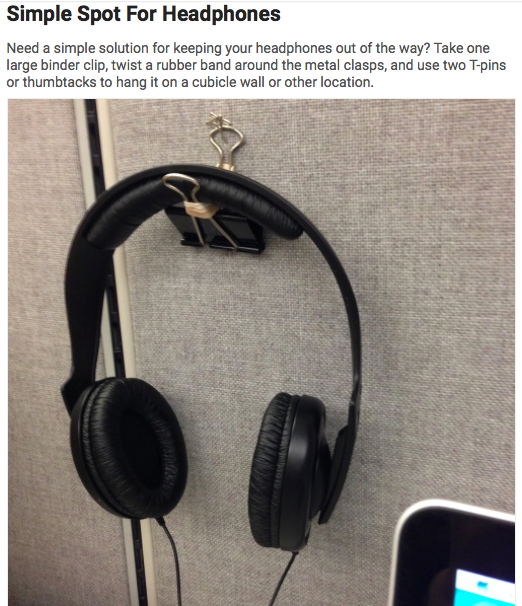 Binder Clip Headphone Hanger In 2019