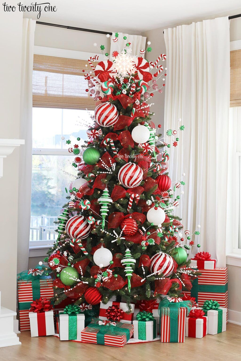 Peppermint Christmas Tree Cool Christmas Trees Candy Christmas Tree Peppermint Christmas