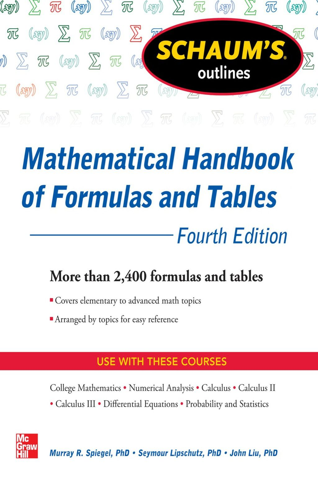 Schaum S Outline Of Mathematical Handbook Of Formulas And Tables 4th Edition Ebook Trigonometrie Livre Livre Pdf