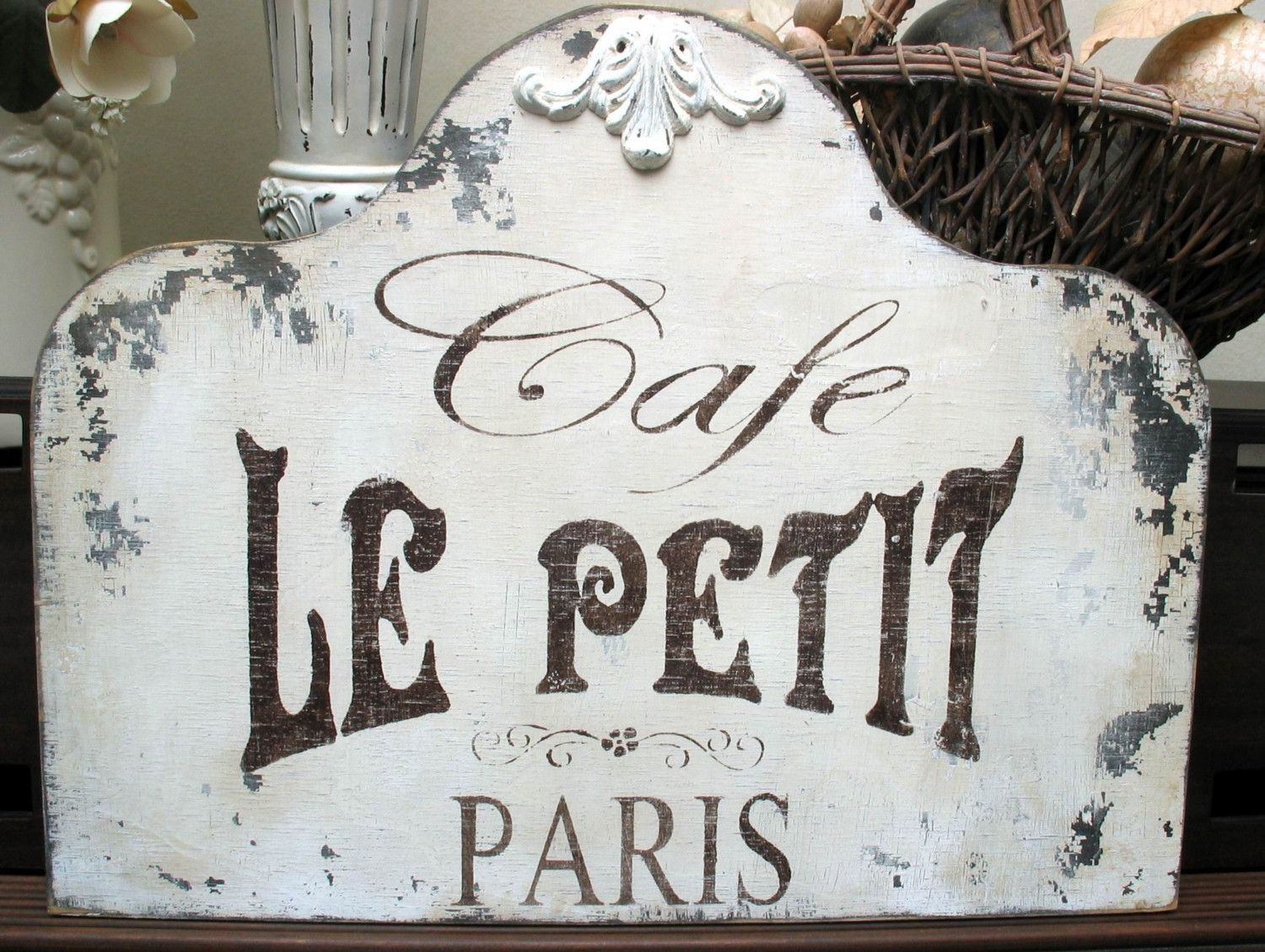 shabby signs Cafe French Paris Chippy vintage chic | J ...