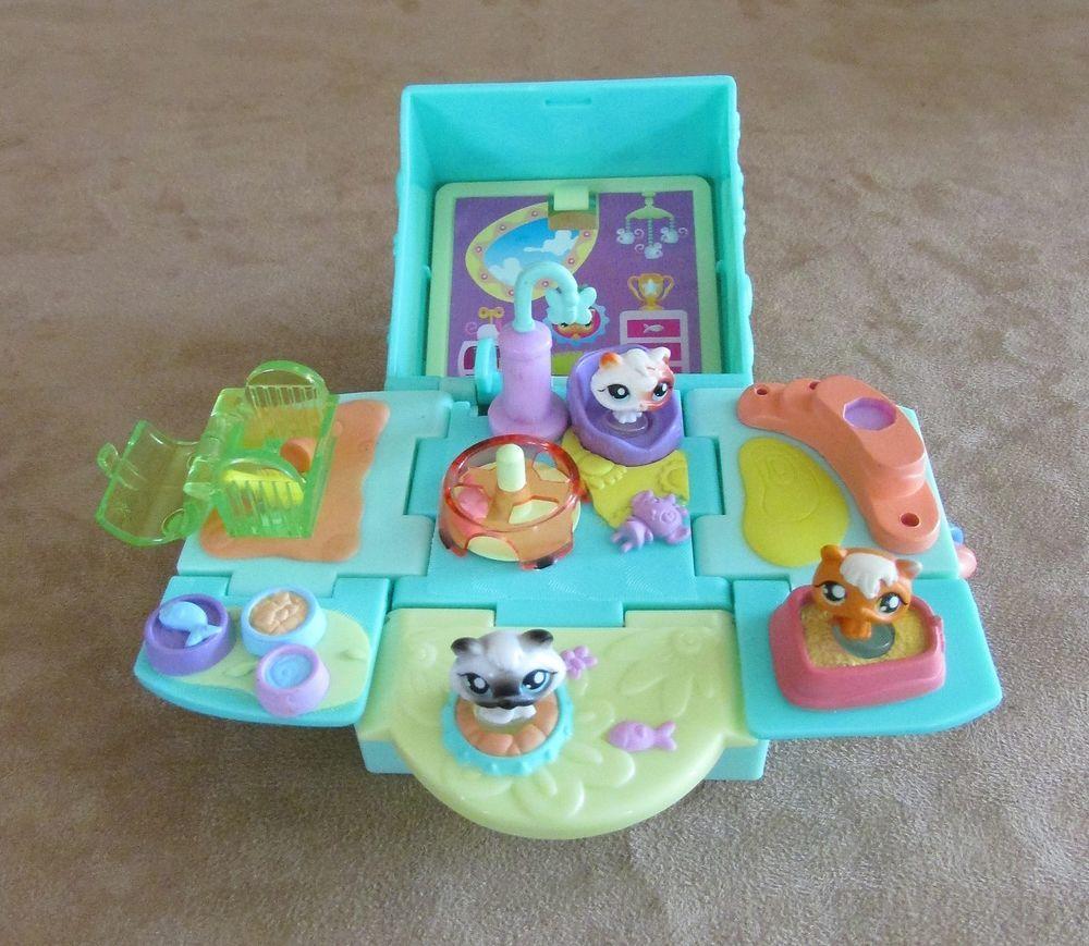 4f4dcce665 Cat 2006 Littlest Pet Shop Teeniest Tiniest playset Aqua Pop Up mini Cube  take  Hasbro