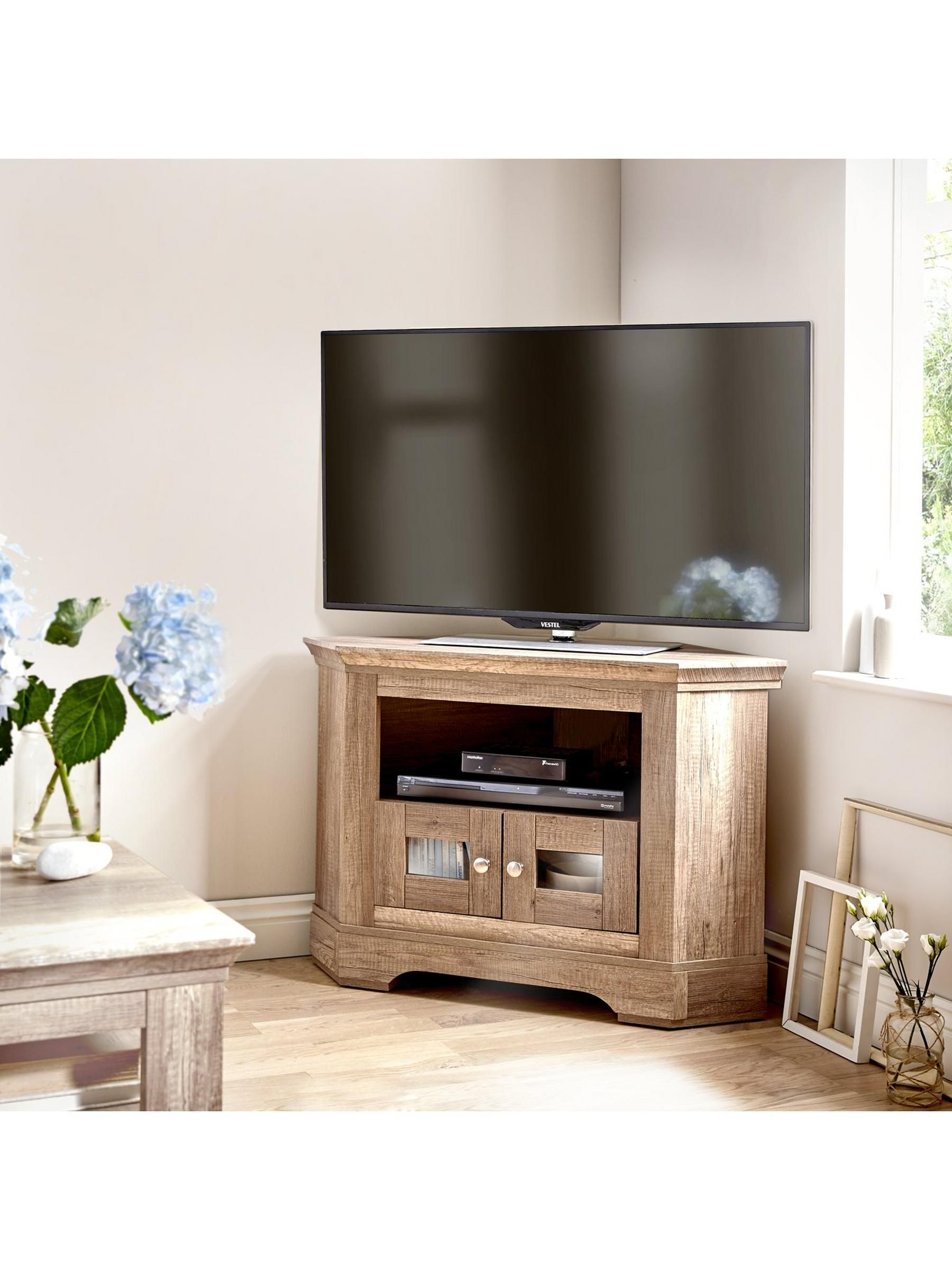 Ideal Home Wiltshire Corner Tv Unit Fits Up To 40 Inch Very Co Uk
