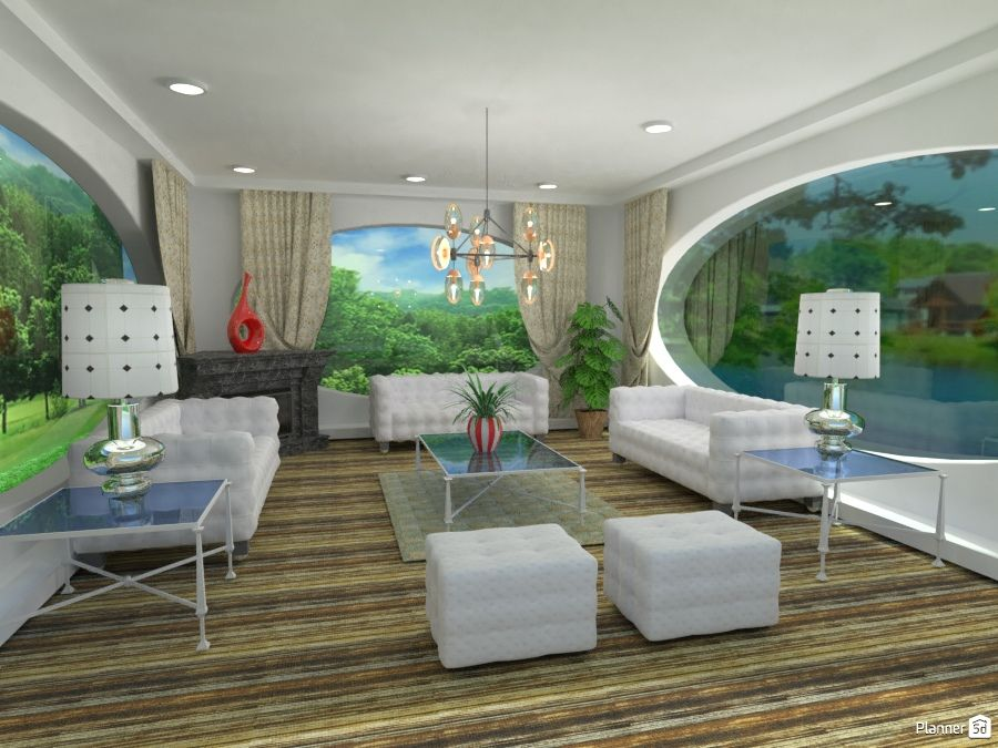 Living Room Interior Oval Windows Planner 5d Living Room
