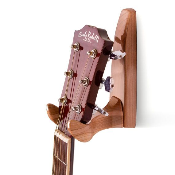 65 stylish high gloss cherry and birch guitar wall hanger on guitar wall hangers id=12215