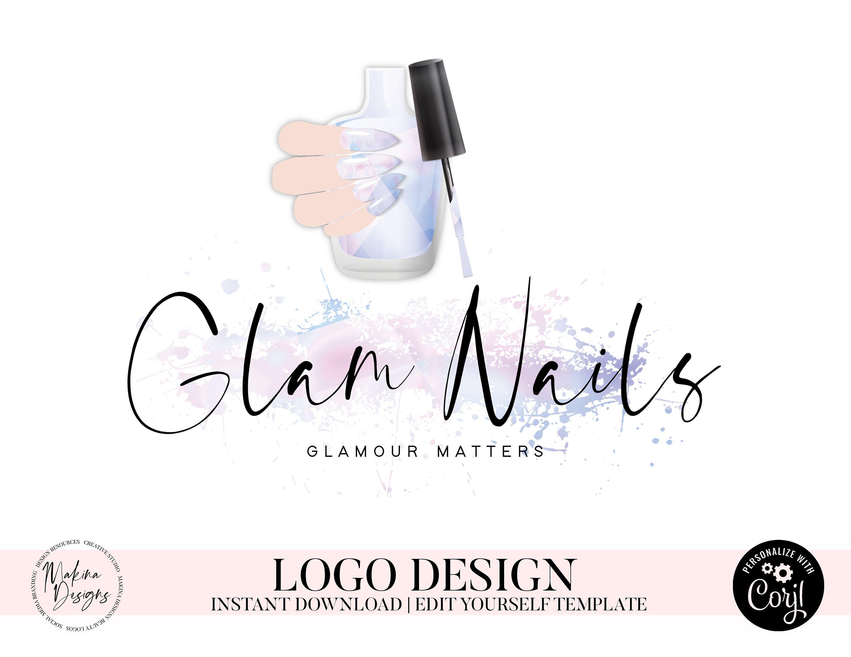 Nail artist logo nail logo nail artist nail polish logo