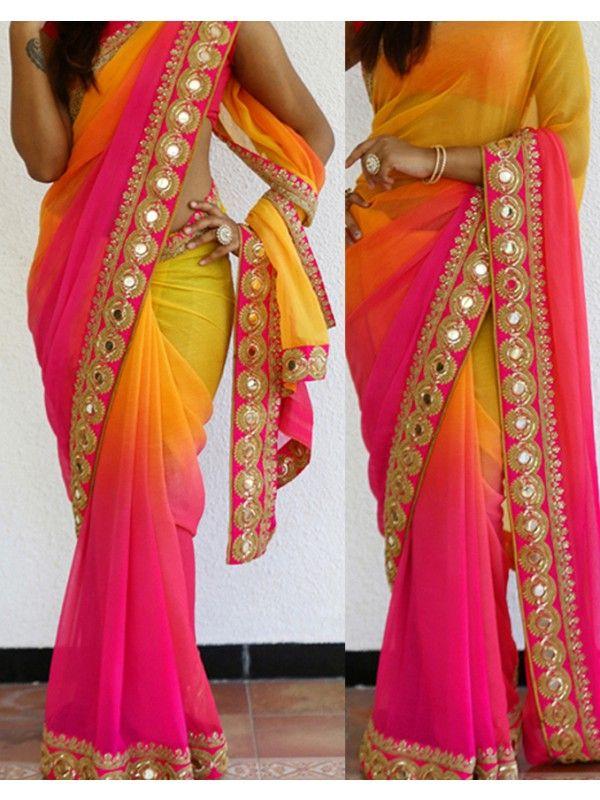 f86796fcfc5045 Lehenga Style Saree, Saree Dress, Sari, Party Wear Sarees Online,  Embroidery Saree
