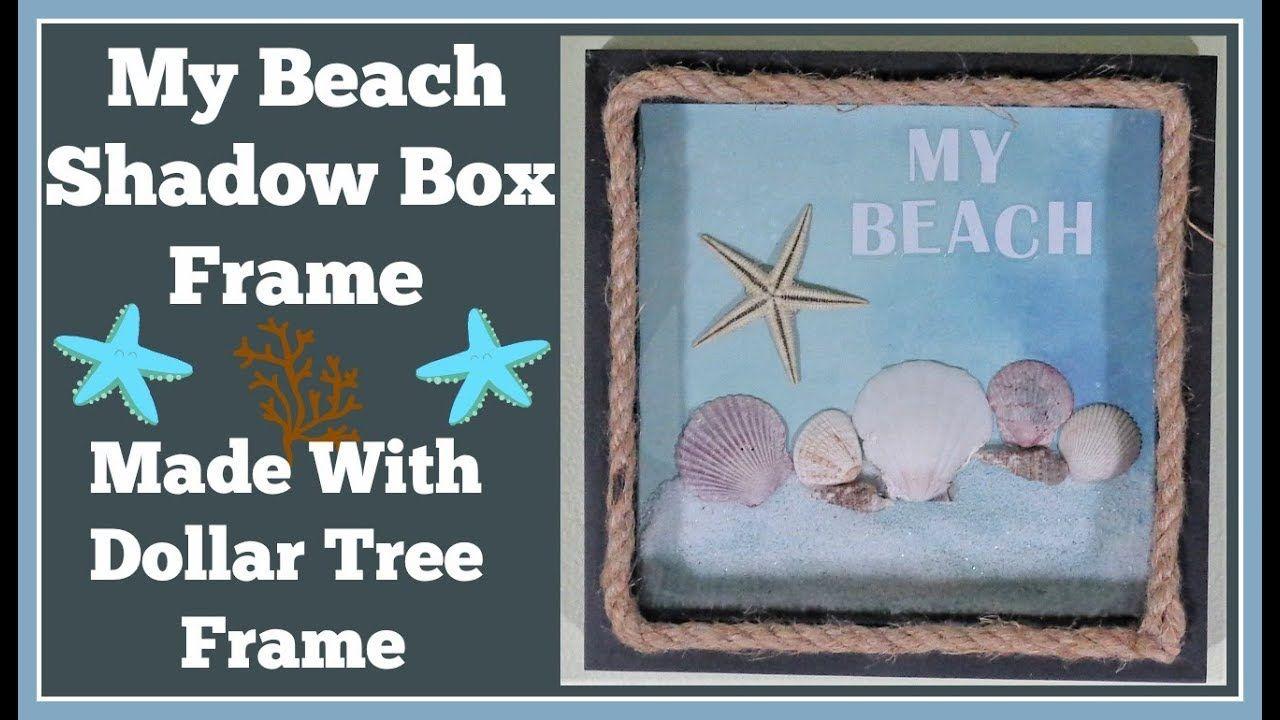 Beach shadow box using a dollar tree frame super easy diy