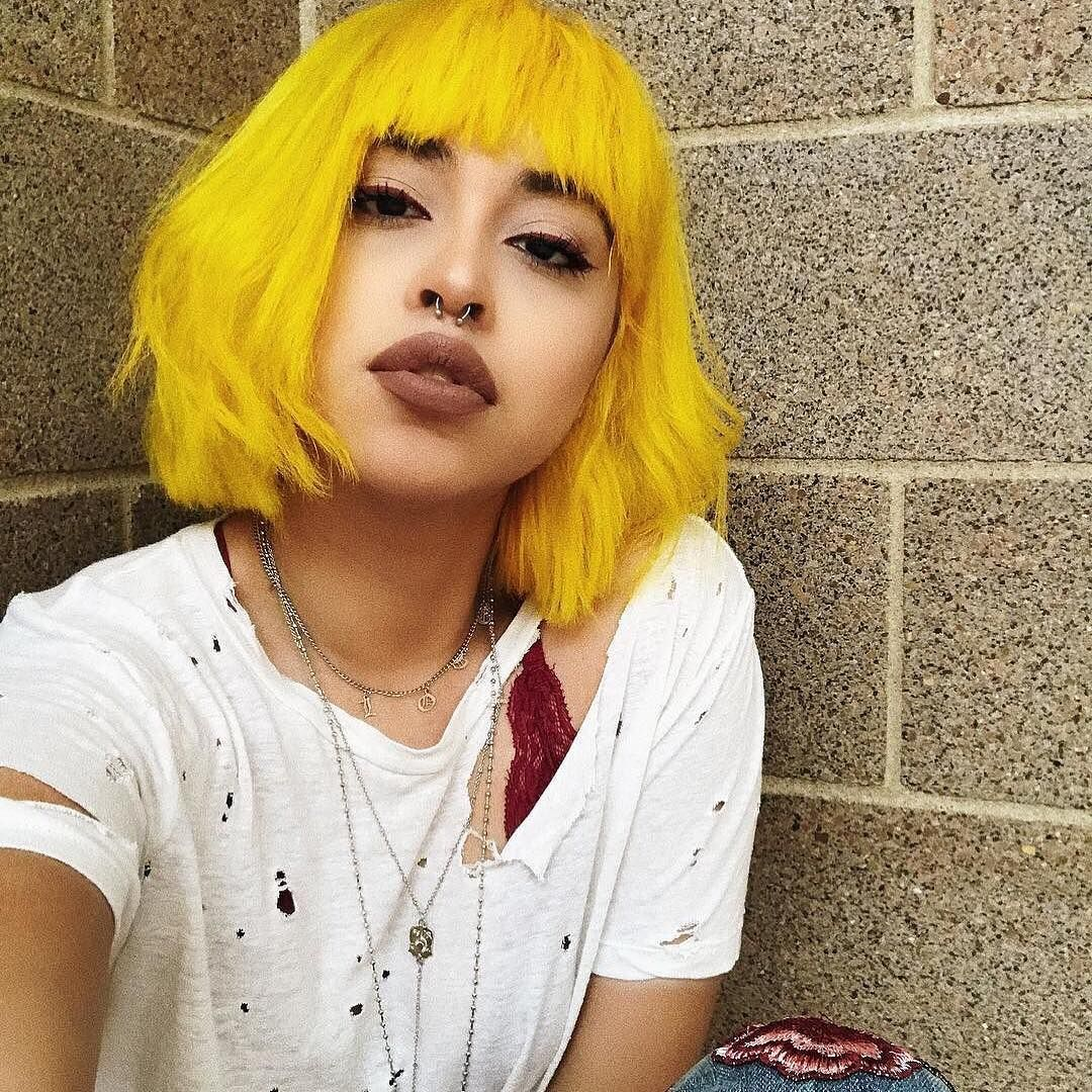 Pin by hayleigh on cosmo pinterest yellow hair hair style